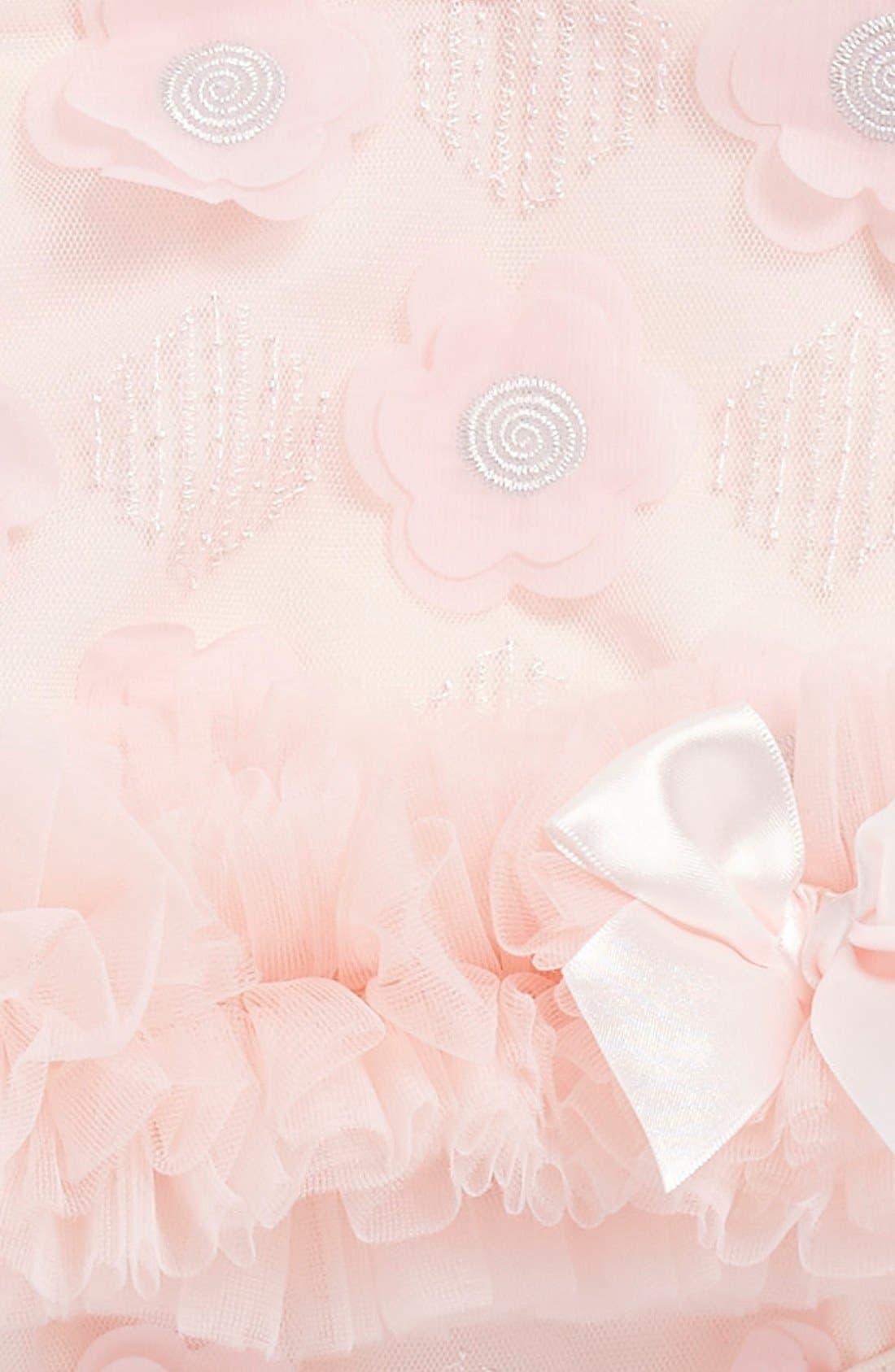 Floral Appliqué Bodysuit,                             Alternate thumbnail 3, color,                             Dusty Rose