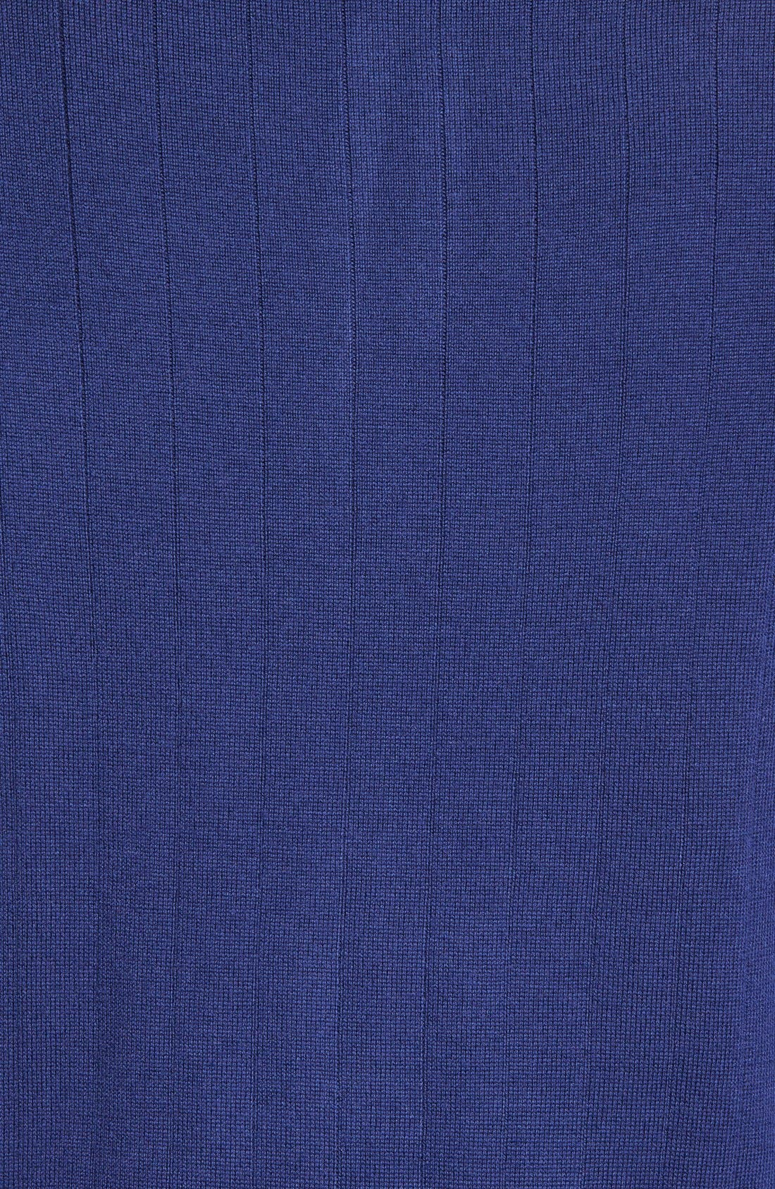 Quarter Zip Wool Sweater Vest,                             Alternate thumbnail 5, color,                             Summer Navy