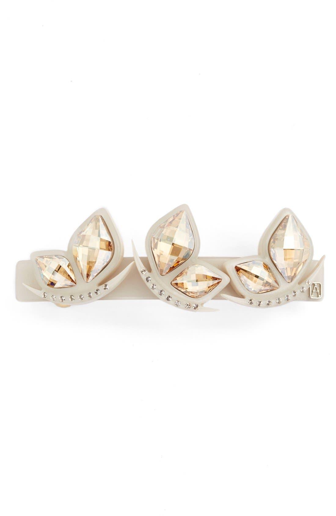 Alexandre de Paris Crystal Butterfly Barrette