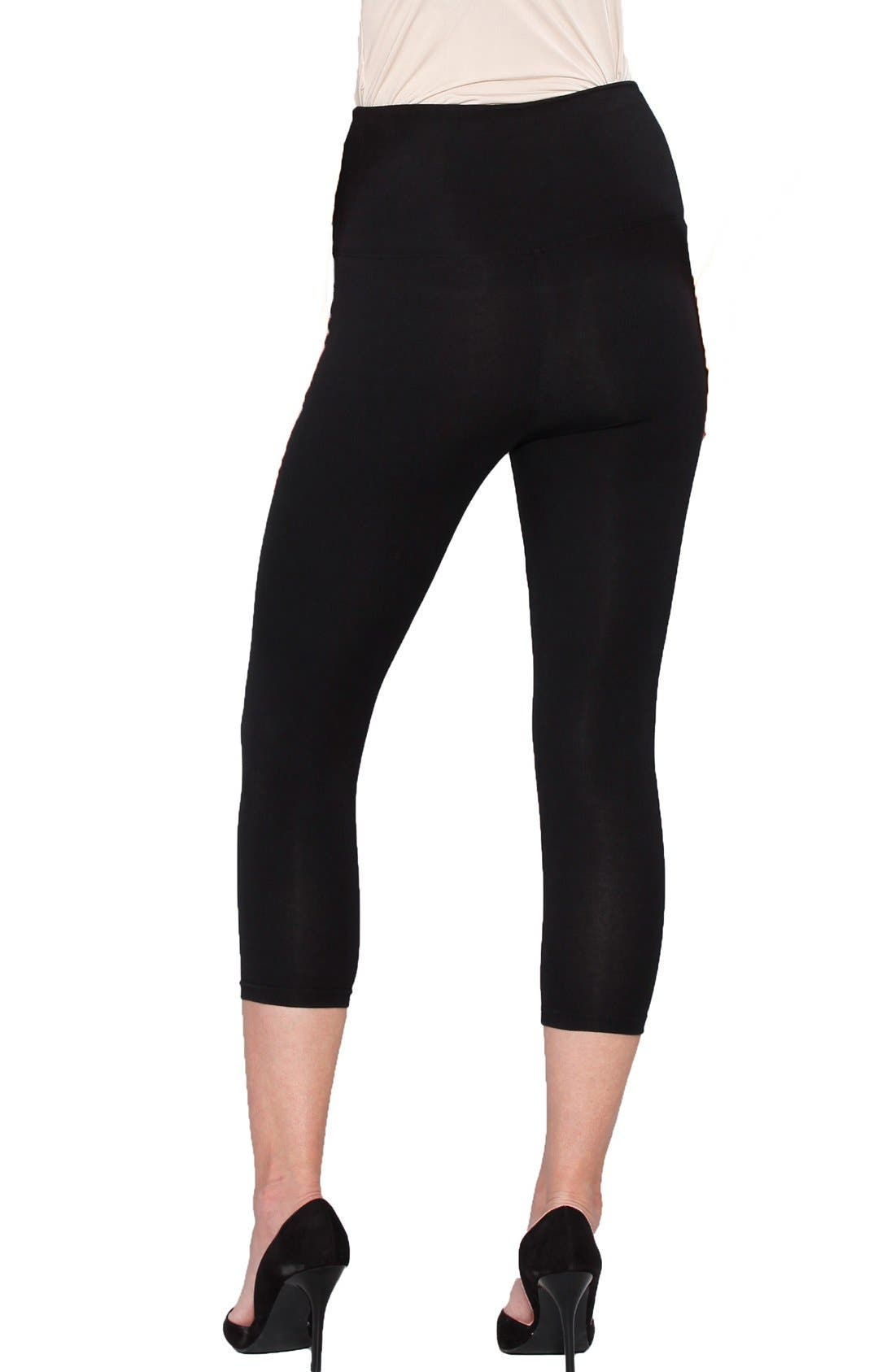 Alternate Image 2  - Angel Maternity 'The Tummy Tight' Capri Postpartum Leggings