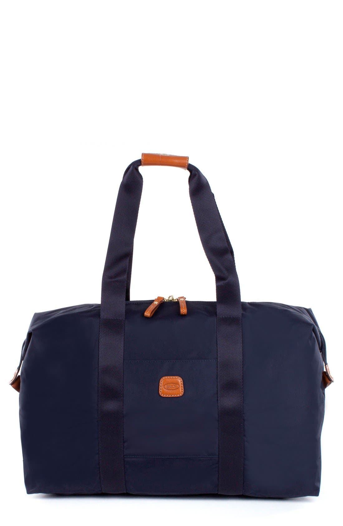 'X-Bag' Folding Duffel Bag,                         Main,                         color, Navy