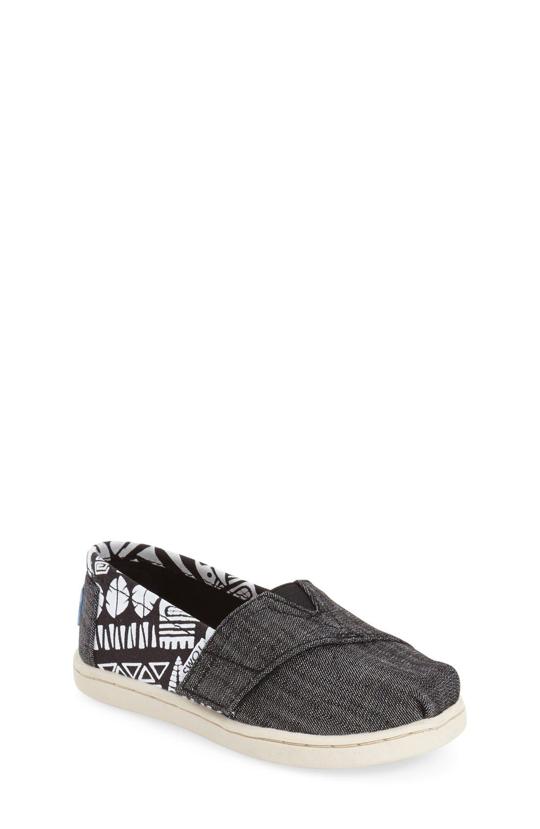 'Tiki' Canvas Slip-On,                             Main thumbnail 1, color,                             Black