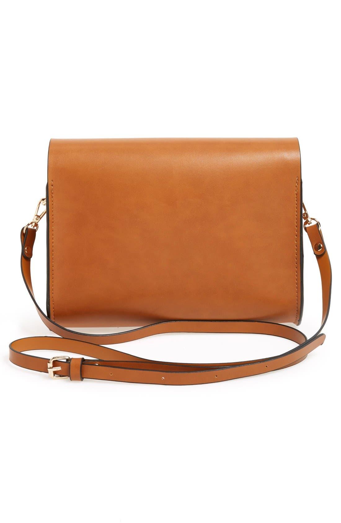 Alternate Image 3  - Cesca Faux Leather Crossbody Bag
