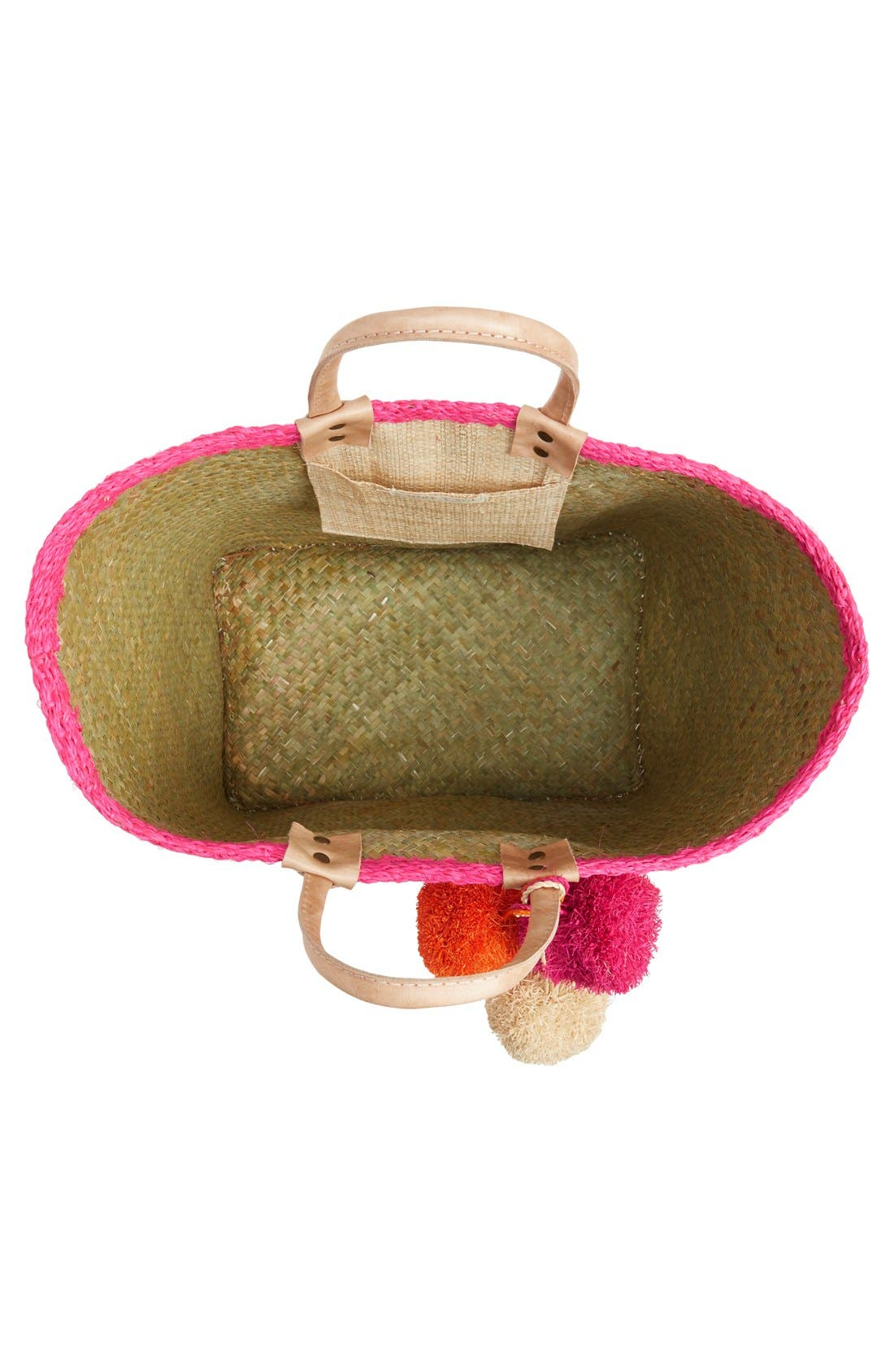 Alternate Image 4  - Mar y Sol 'Capri' Woven Tote with Pom Charms