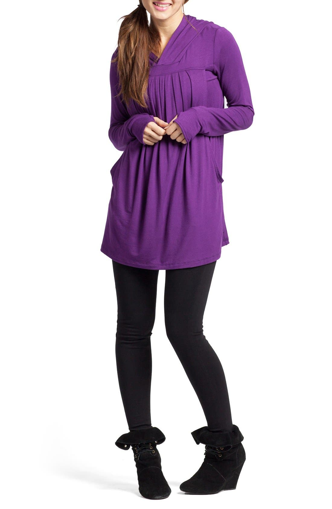 Savi Mom Hooded Maternity/Nursing Tunic