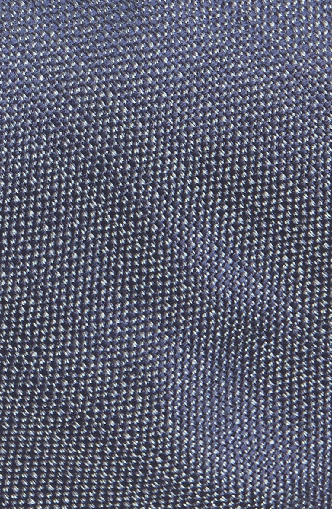 Solid Skinny Silk Tie,                             Alternate thumbnail 2, color,                             Navy/ Grey