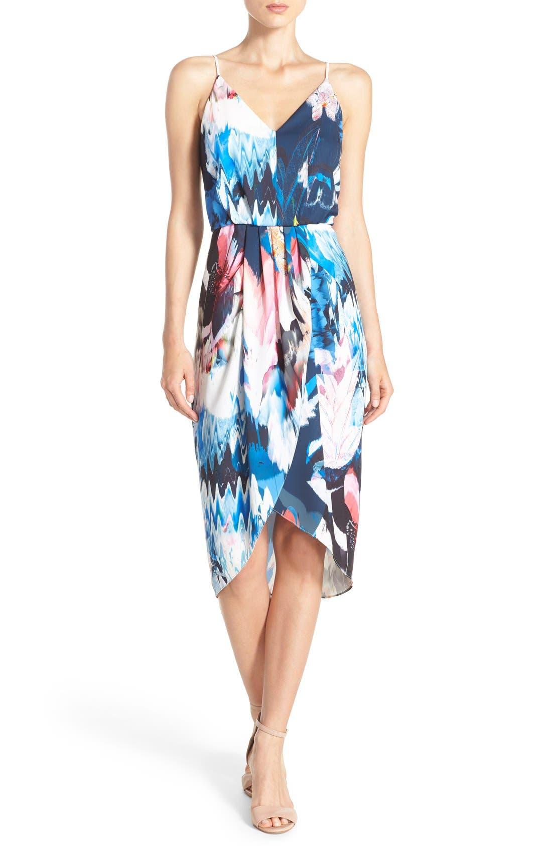 Alternate Image 1 Selected - Chelsea28 Print Faux Wrap Dress
