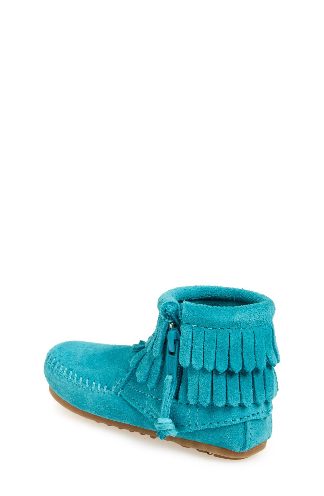 Alternate Image 2  - Minnetonka 'Double Fringe' Boot (Walker, Toddler, Little Kid & Big Kid)