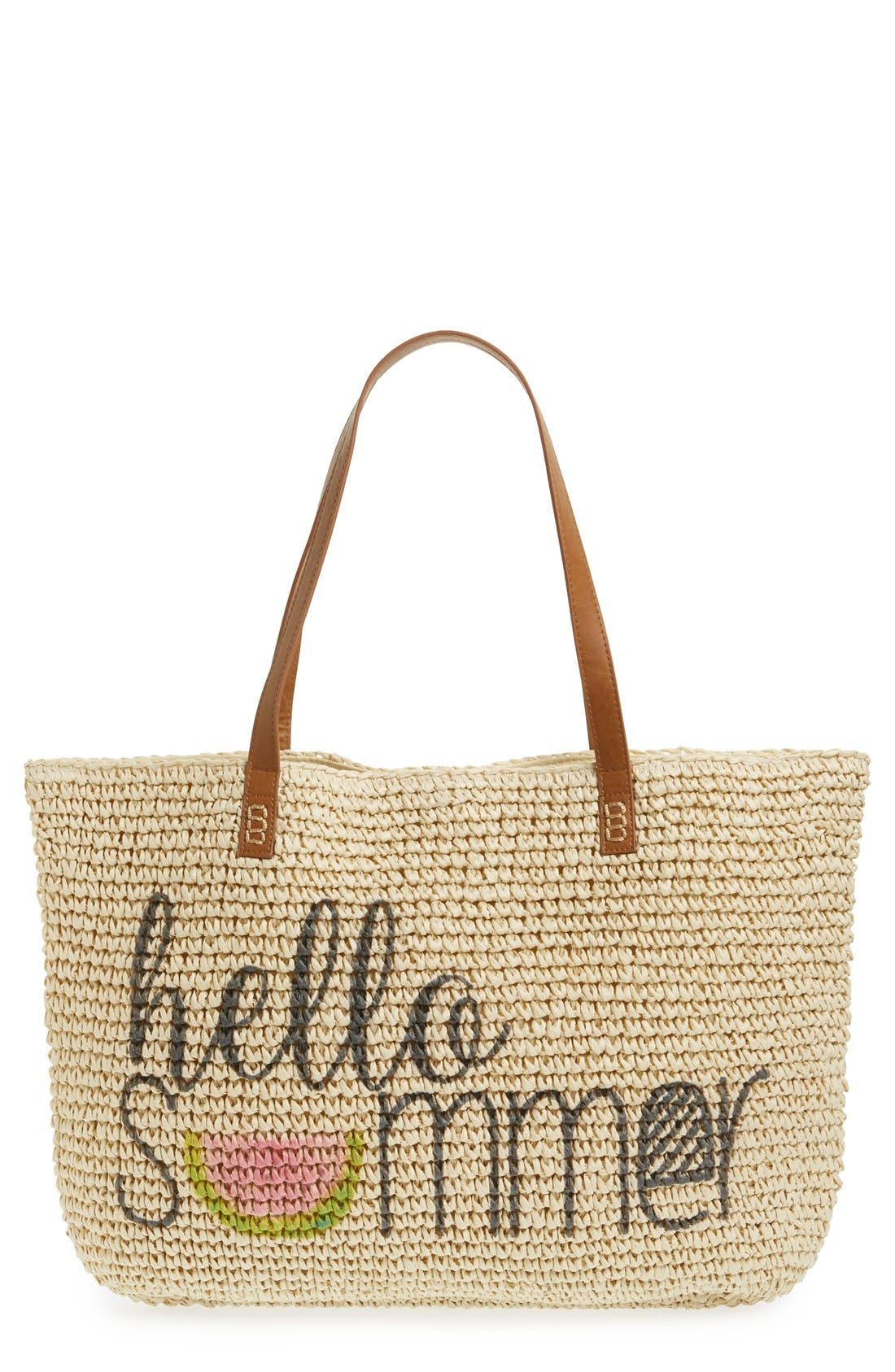 Alternate Image 1 Selected - Straw Studios 'Conversation' Straw Tote