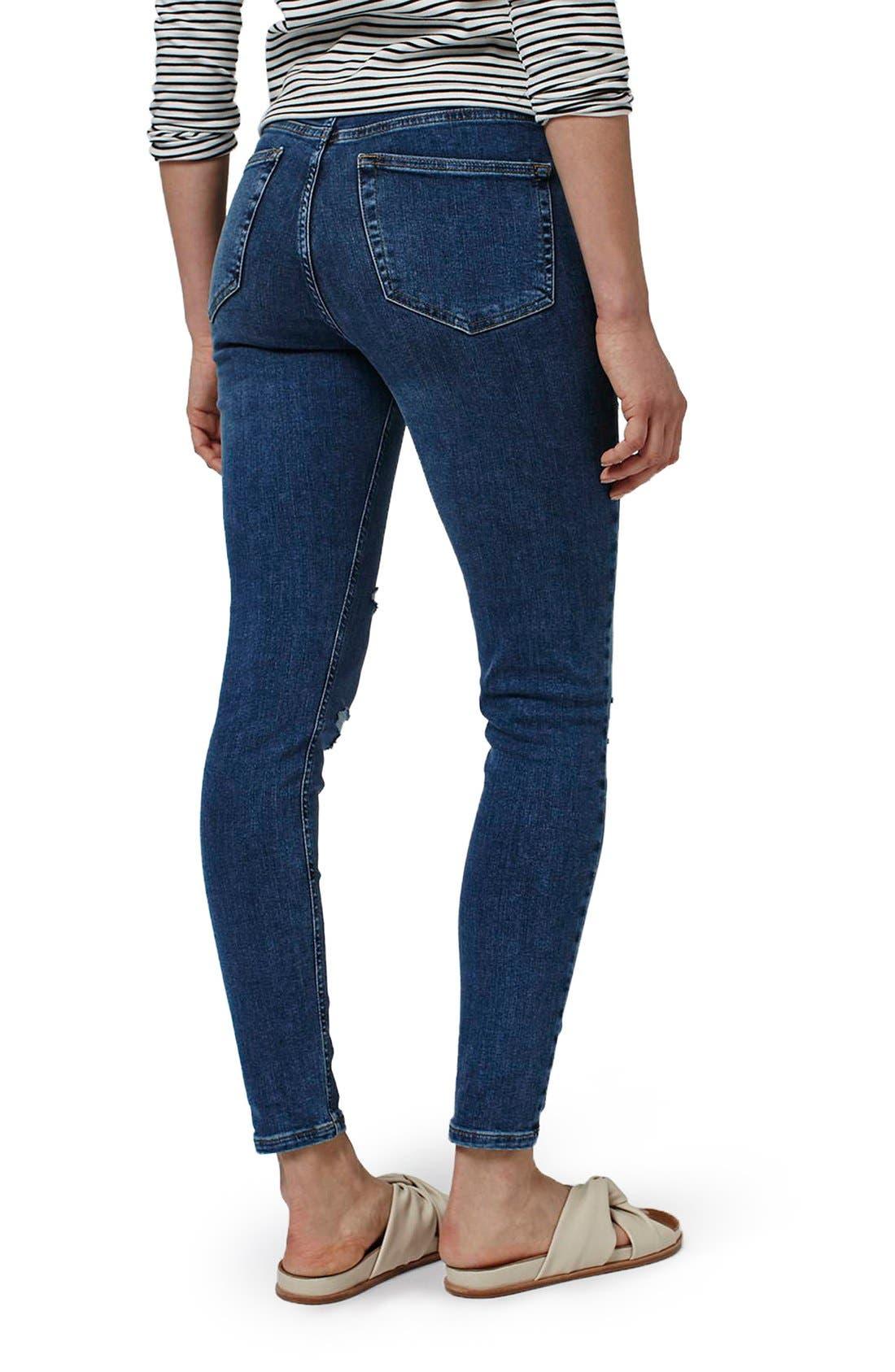 Alternate Image 3  - Topshop Moto 'Jamie' Super Ripped Skinny Jeans