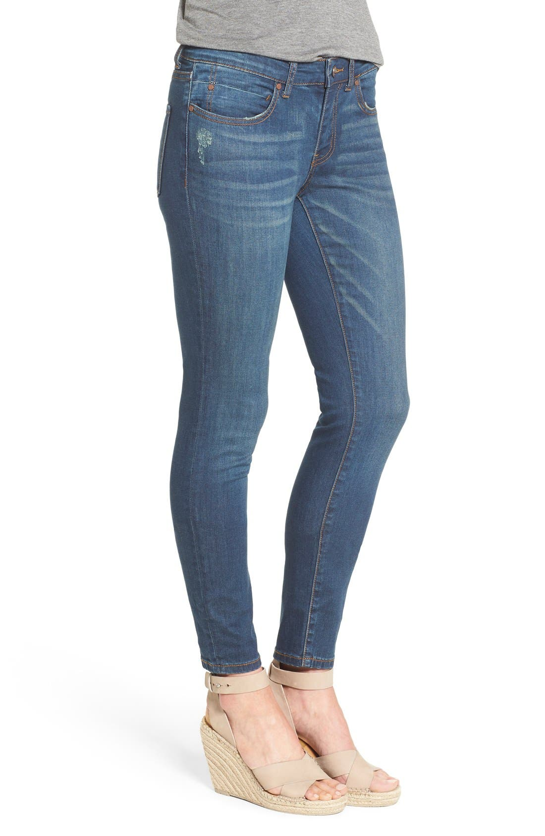 Alternate Image 3  - Caslon® Stretch Skinny Ankle Jeans (Midnight) (Regular & Petite)