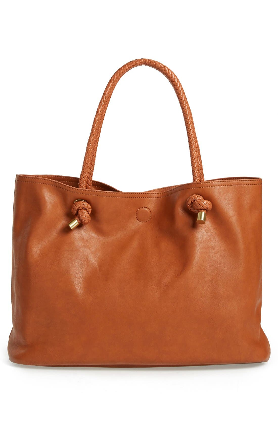 Alternate Image 3  - Sole Society Braided Handle Faux Leather Tote