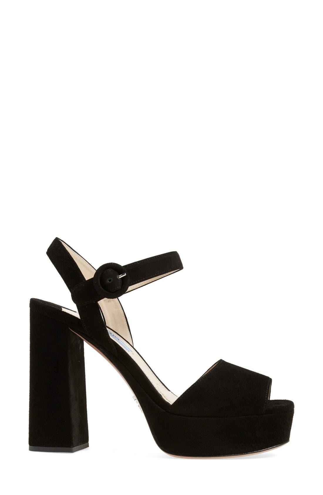 Alternate Image 4  - Prada Block Heel Platform Sandal (Women)