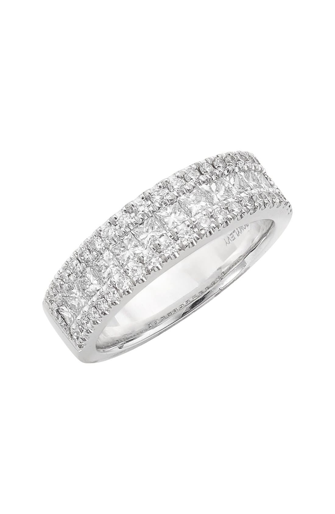 'Liora' Princess Diamond Ring,                             Main thumbnail 1, color,                             White Gold