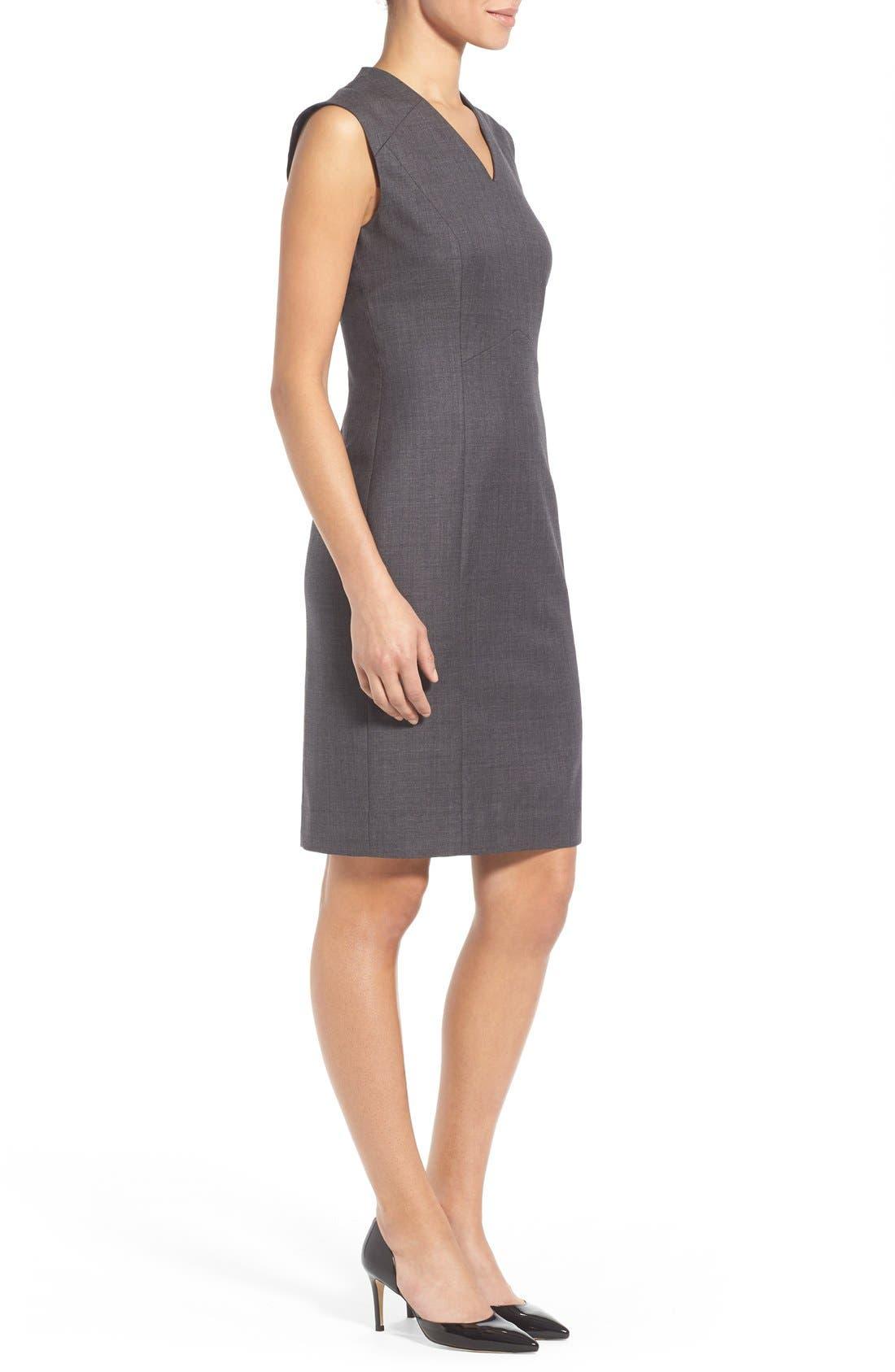 Alternate Image 4  - Classiques Entier® V-Neck Superfine Wool Sheath Dress