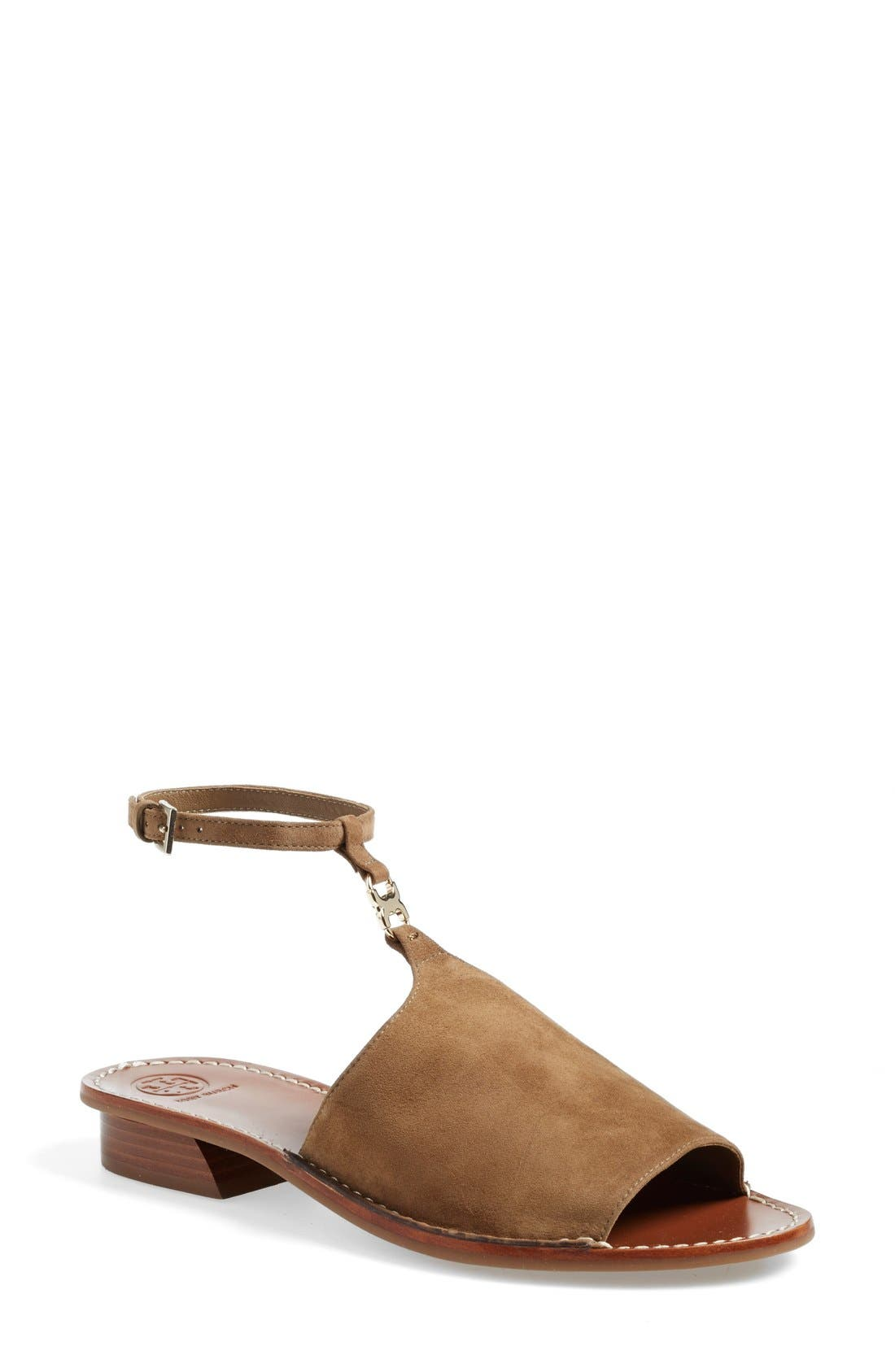Alternate Image 1 Selected - Tory Burch 'Gemini Link' Ankle Strap Sandal (Women)
