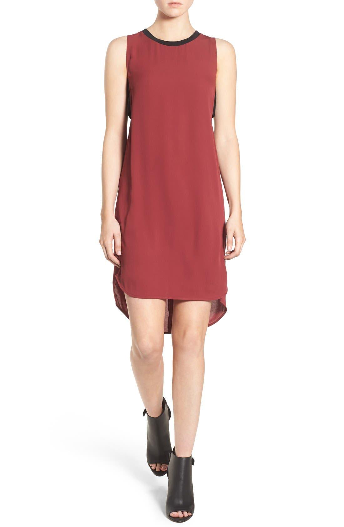 Main Image - Trouvé Banded High/Low Shift Dress