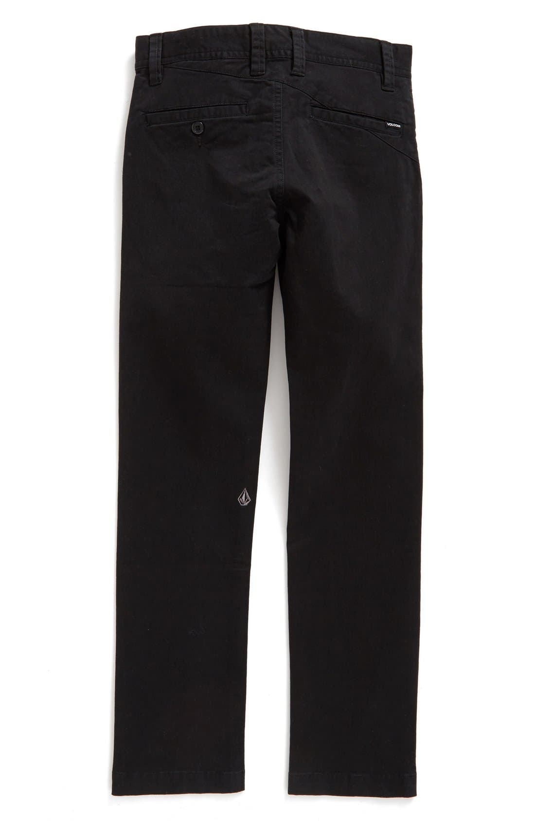 Alternate Image 2  - Volcom Slim Fit Stretch Chinos (Toddler Boys, Little Boys & Big Boys)