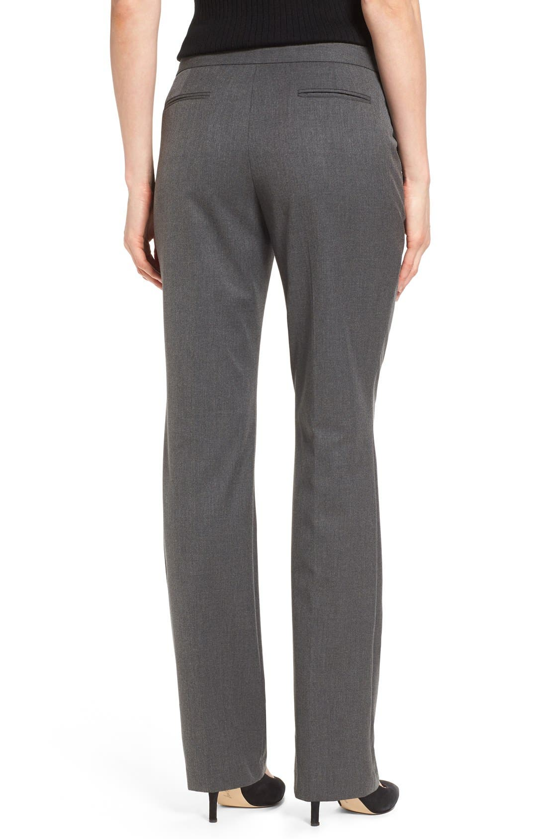 Straight Leg Pants,                             Alternate thumbnail 2, color,                             Dark Heather Grey