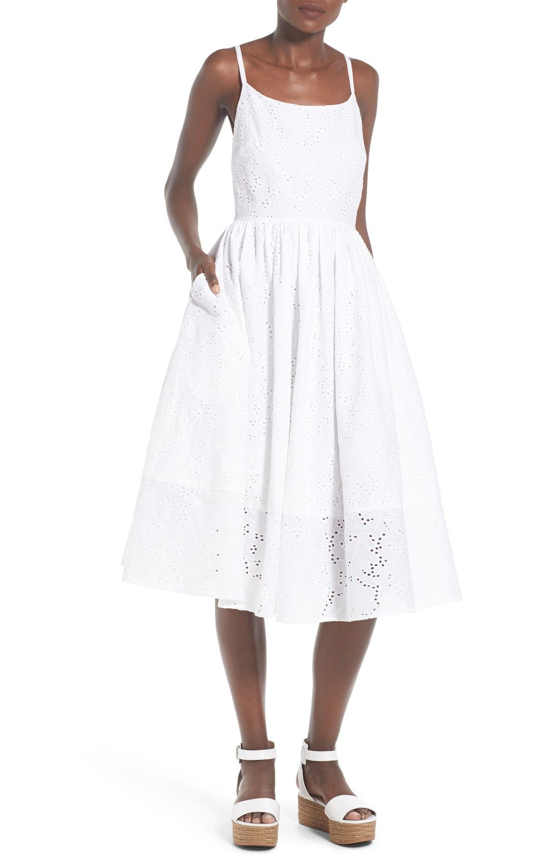 Alternate Image 1 Selected - Rachel Antonoff 'Melissa' Cotton Eyelet Fit & Flare Dress