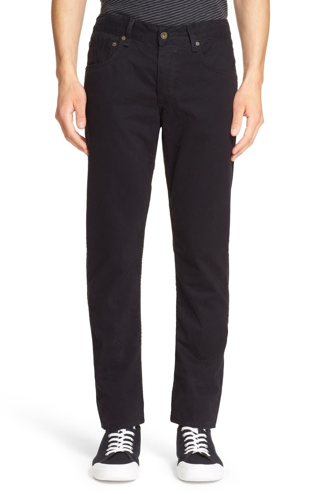 'Fit 2' Cotton Twill Pants,                             Main thumbnail 1, color,                             Black