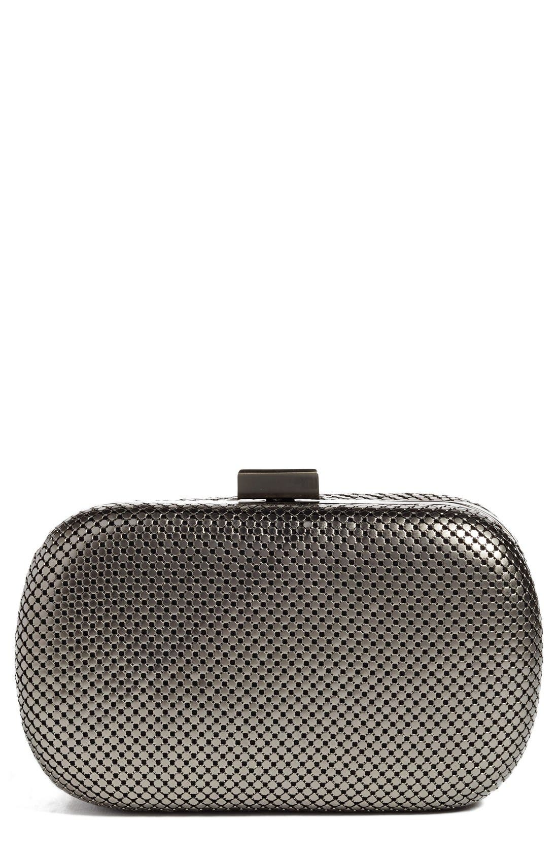 Whiting & Davis Mesh Oval Minaudière