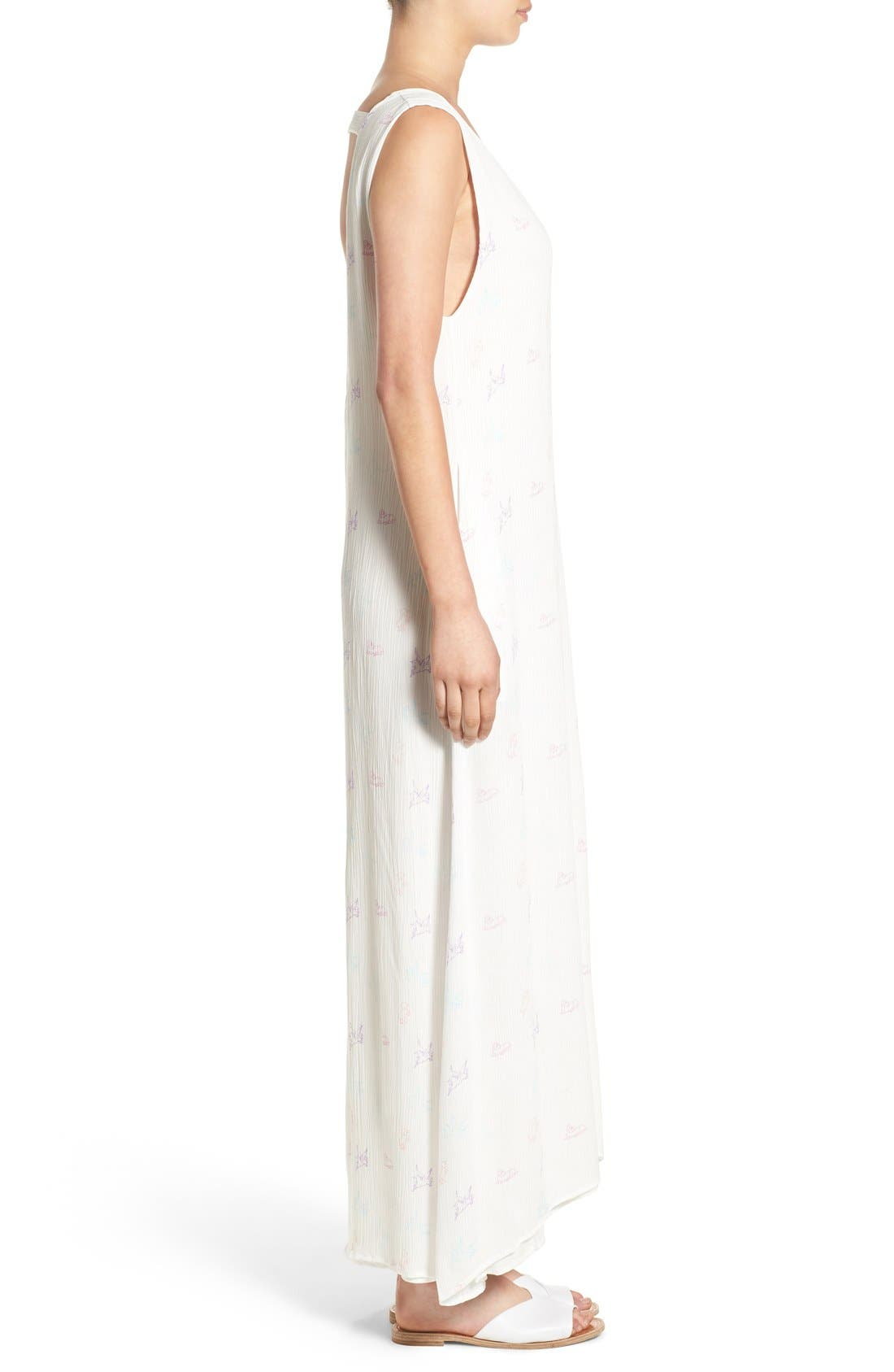 Alternate Image 3  - Wildfox Unicorn Print Gauze Maxi Dress