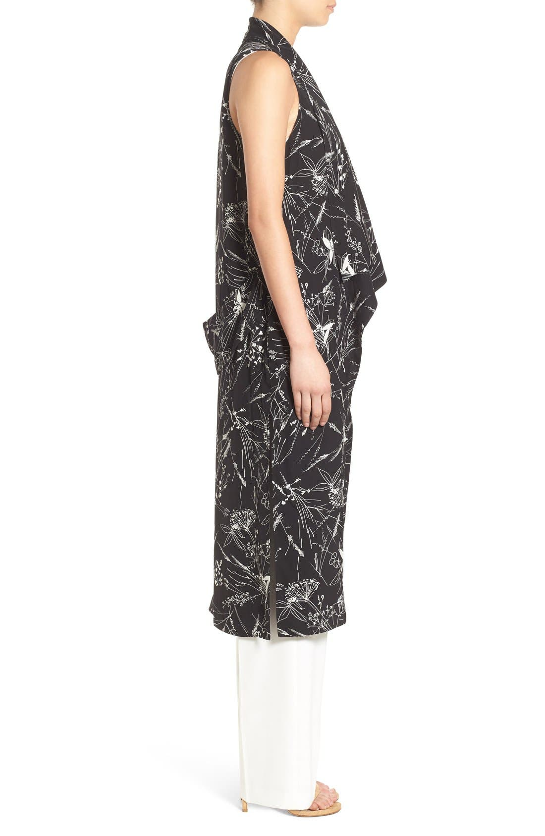 Alternate Image 3  - Olivia Palermo + Chelsea28 Floral Print Long Vest