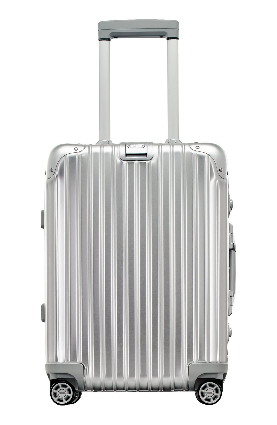 Topas 22-Inch Cabin Multiwheel<sup>®</sup> Aluminum Carry-On,                             Main thumbnail 1, color,                             Silver