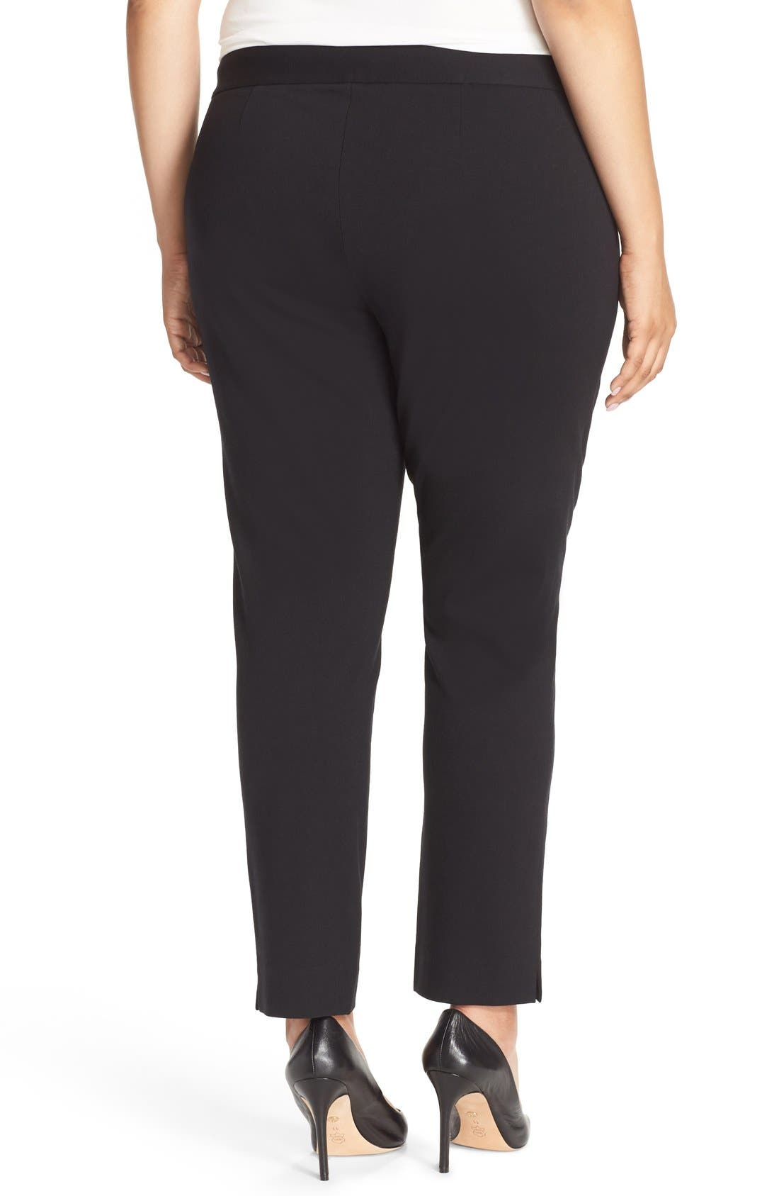 Alternate Image 2  - Vince Camuto Front Zip Slim Ankle Pants (Plus Size)