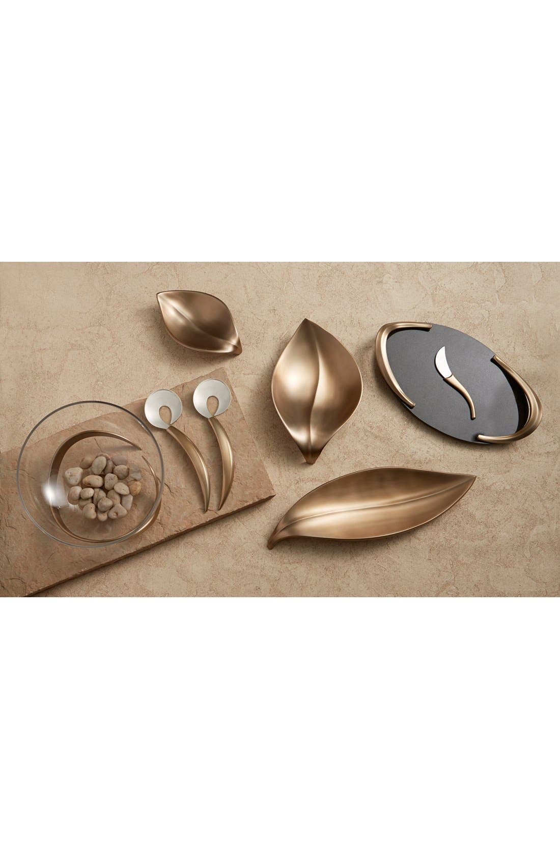 'Eco' Leaf Serving Tray,                             Alternate thumbnail 2, color,                             Gold