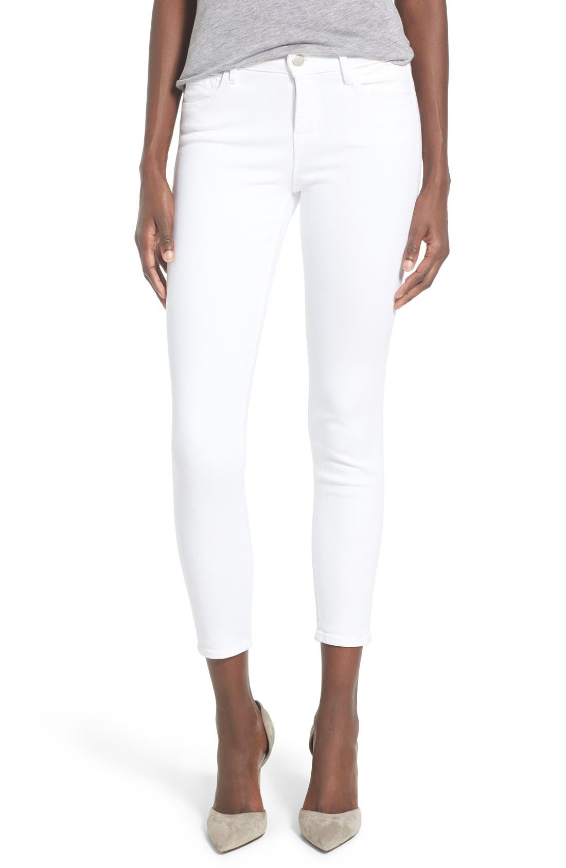 Women's White Wash Cropped Jeans | Nordstrom