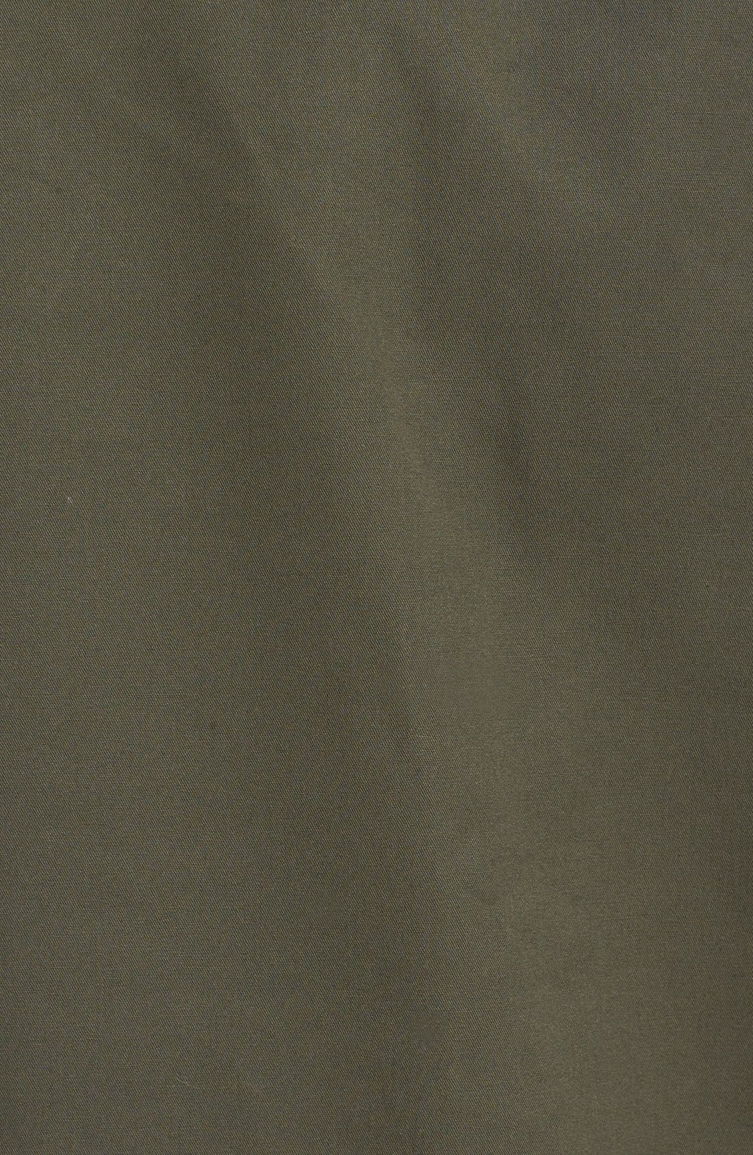 Alternate Image 5  - Topman Bonded & Coated Cotton Fishtail Parka