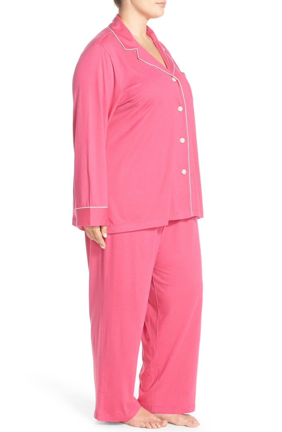 Alternate Image 3  - Lauren Ralph Lauren Knit Pajamas (Plus Size) (Online Only)