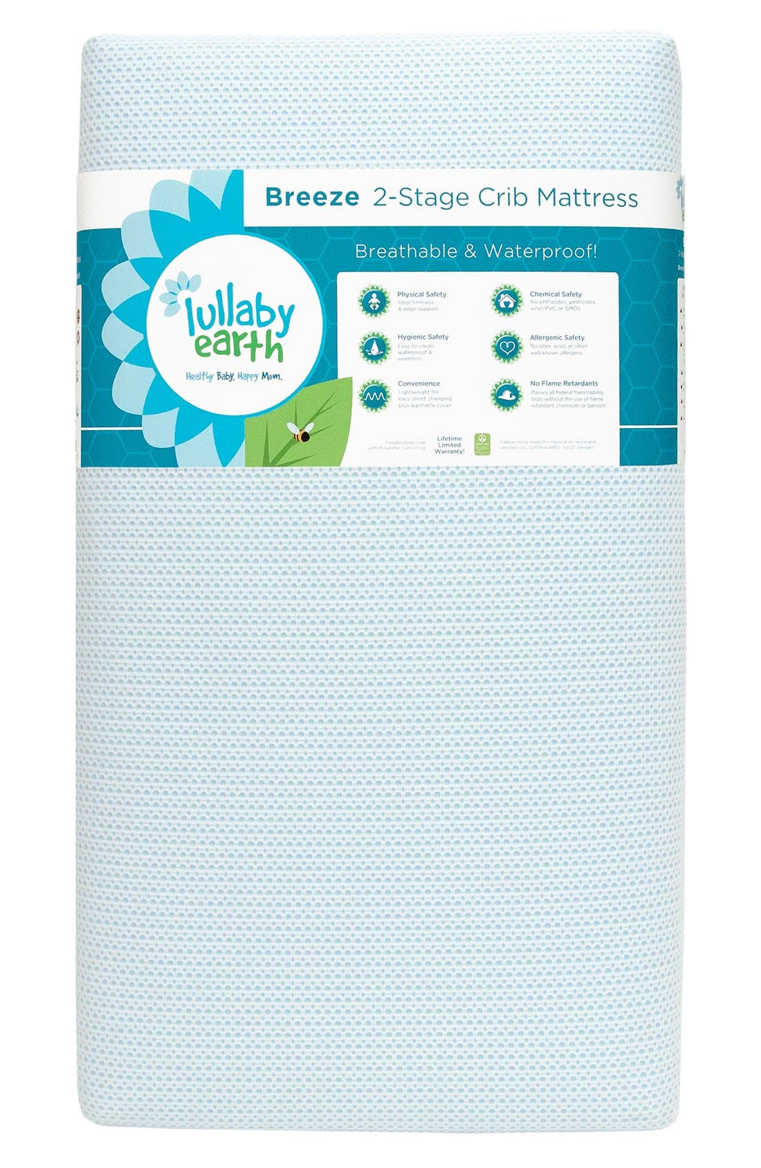 'Breeze' Two Stage Crib Mattress,                             Main thumbnail 1, color,                             Blue