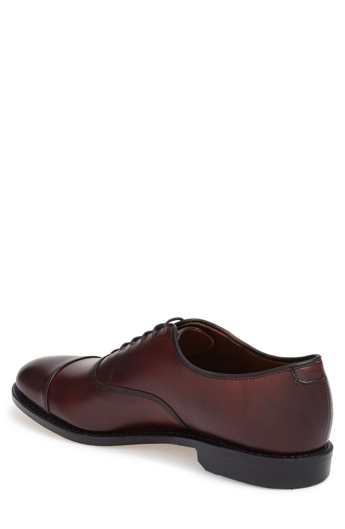 'Park Avenue' Cap Toe Oxford,                             Alternate thumbnail 2, color,                             Oxblood