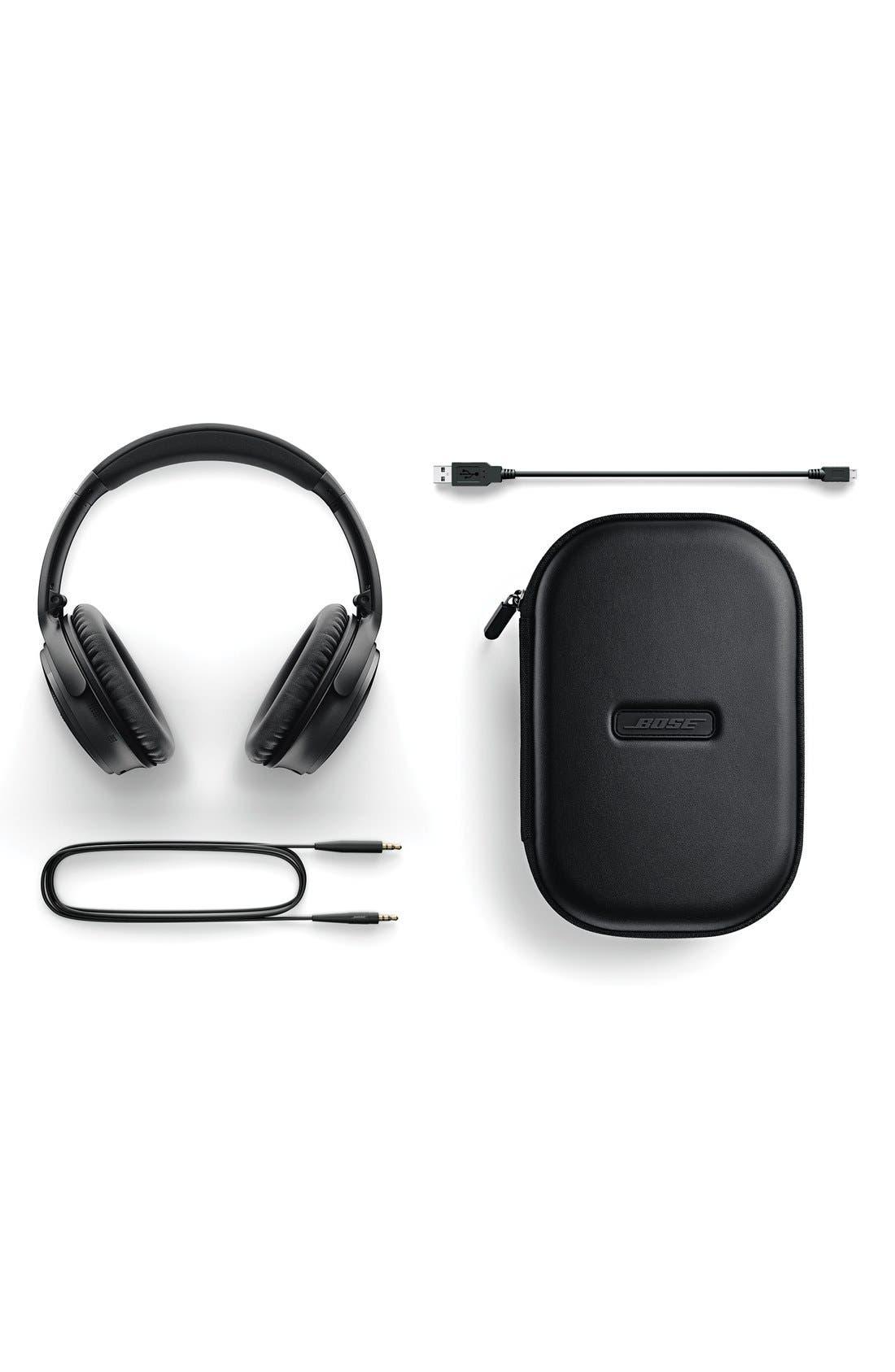 QuietComfort<sup>®</sup> 35 Acoustic Noise Cancelling<sup>®</sup> Bluetooth<sup>®</sup> Headphones,                             Alternate thumbnail 6, color,                             Black