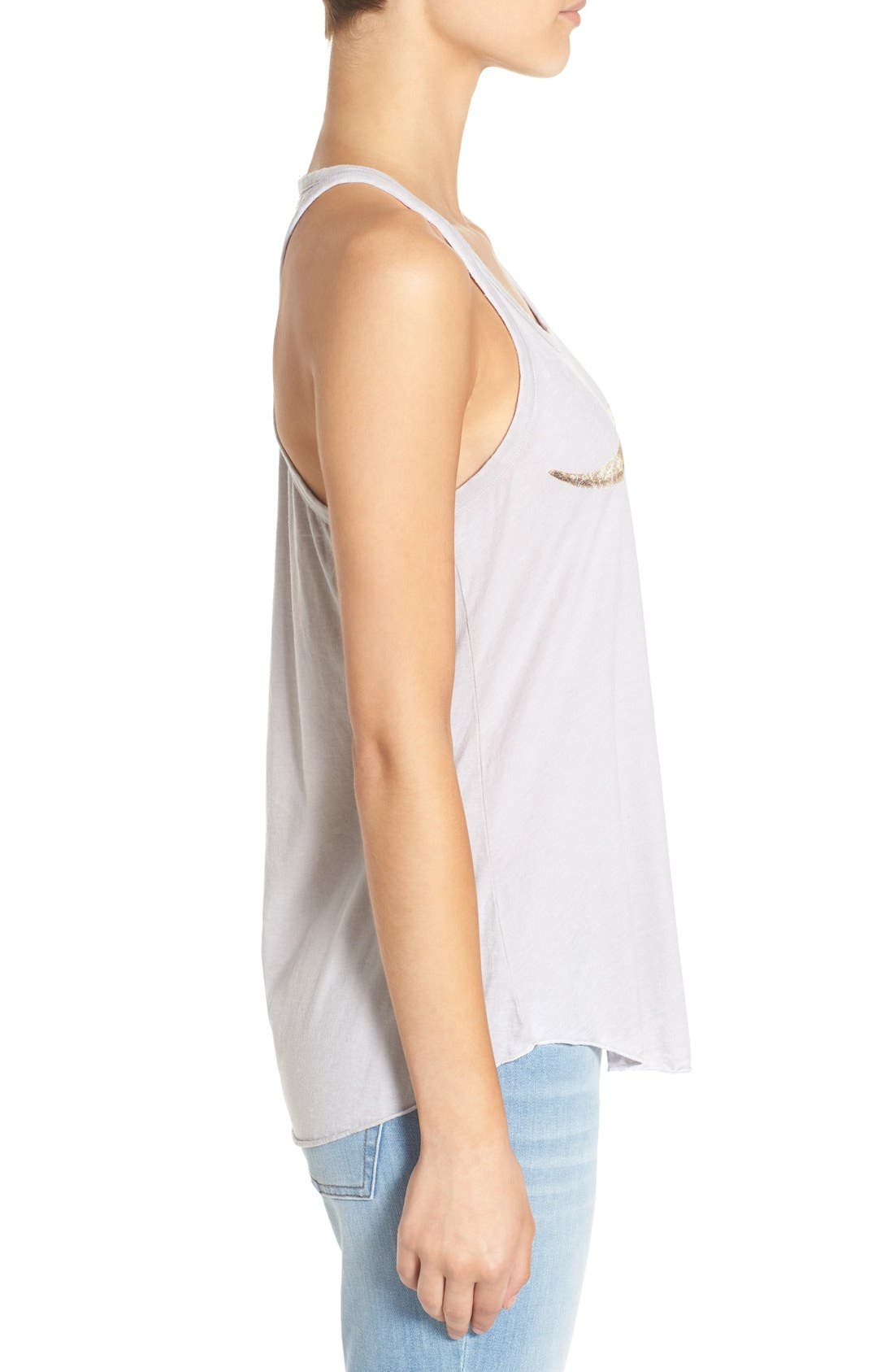 Graphic Jersey Swing Tank,                             Alternate thumbnail 3, color,                             Misty