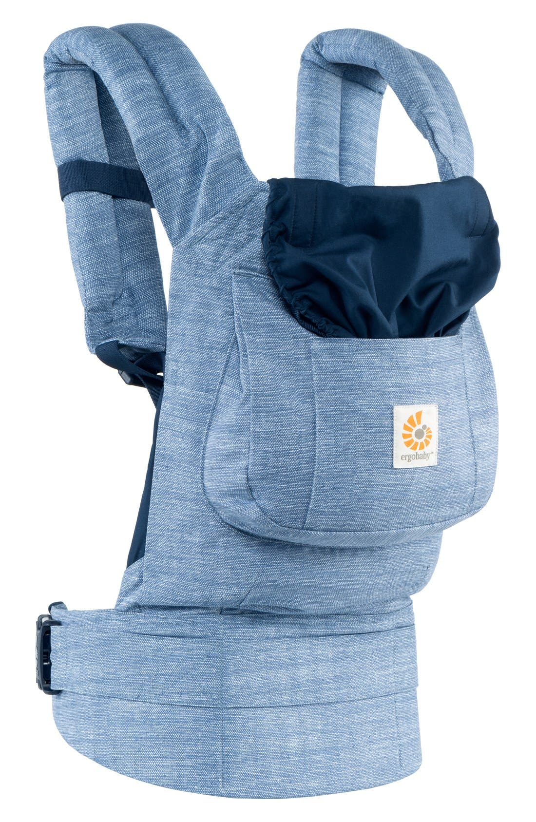 'Original' Cotton Baby Carrier,                             Alternate thumbnail 3, color,                             Vintage Blue