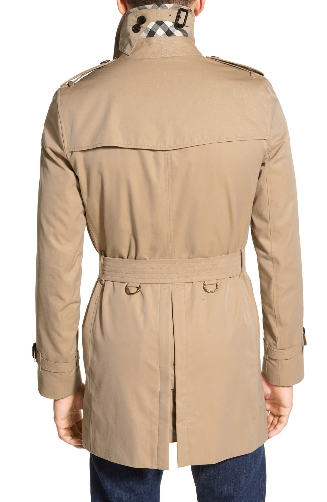 Alternate Image 2  - Burberry Kensington Double Breasted Trench Coat