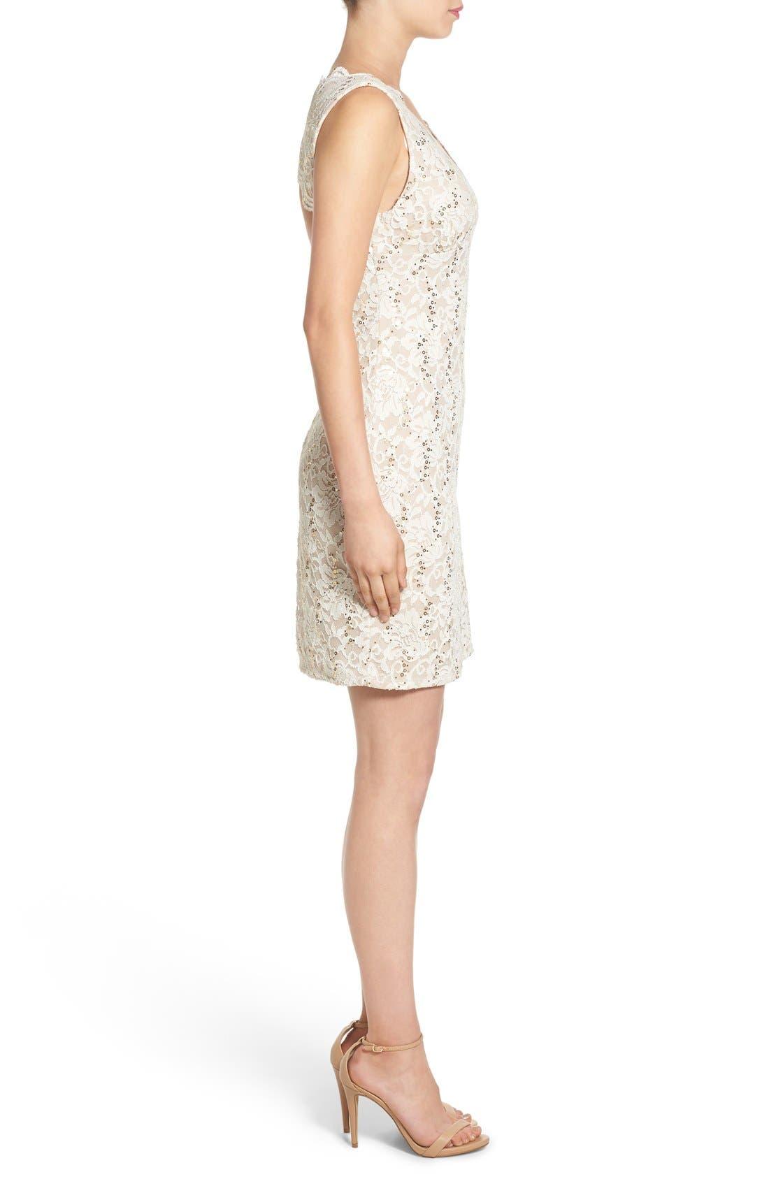 Alternate Image 3  - Morgan & Co. Open Back Lace Dress