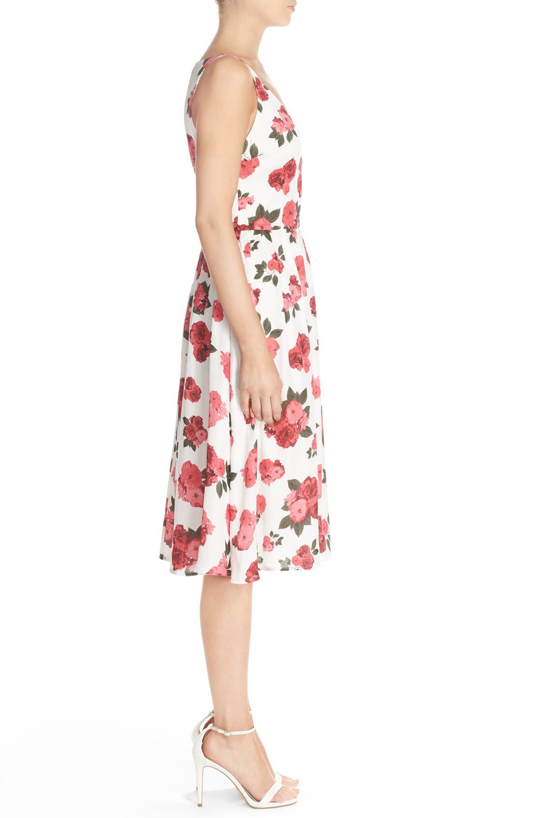 Alternate Image 3  - BB Dakota 'Claudia' Floral Crepe Fit & Flare Dress