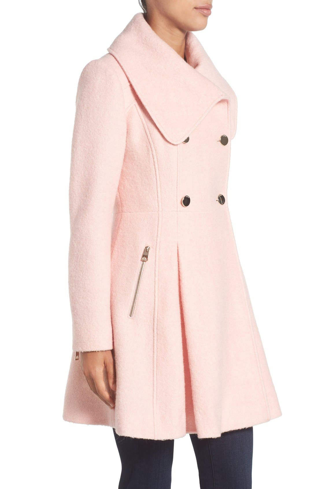 Alternate Image 4  - GUESS Envelope Collar Double Breasted Coat (Regular & Petite)