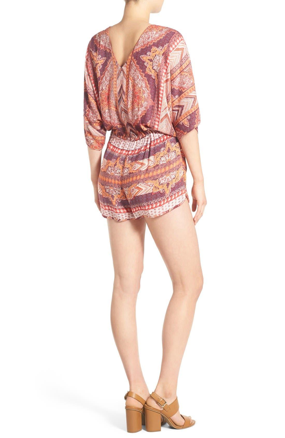 Alternate Image 2  - Angie Kimono Sleeve Romper