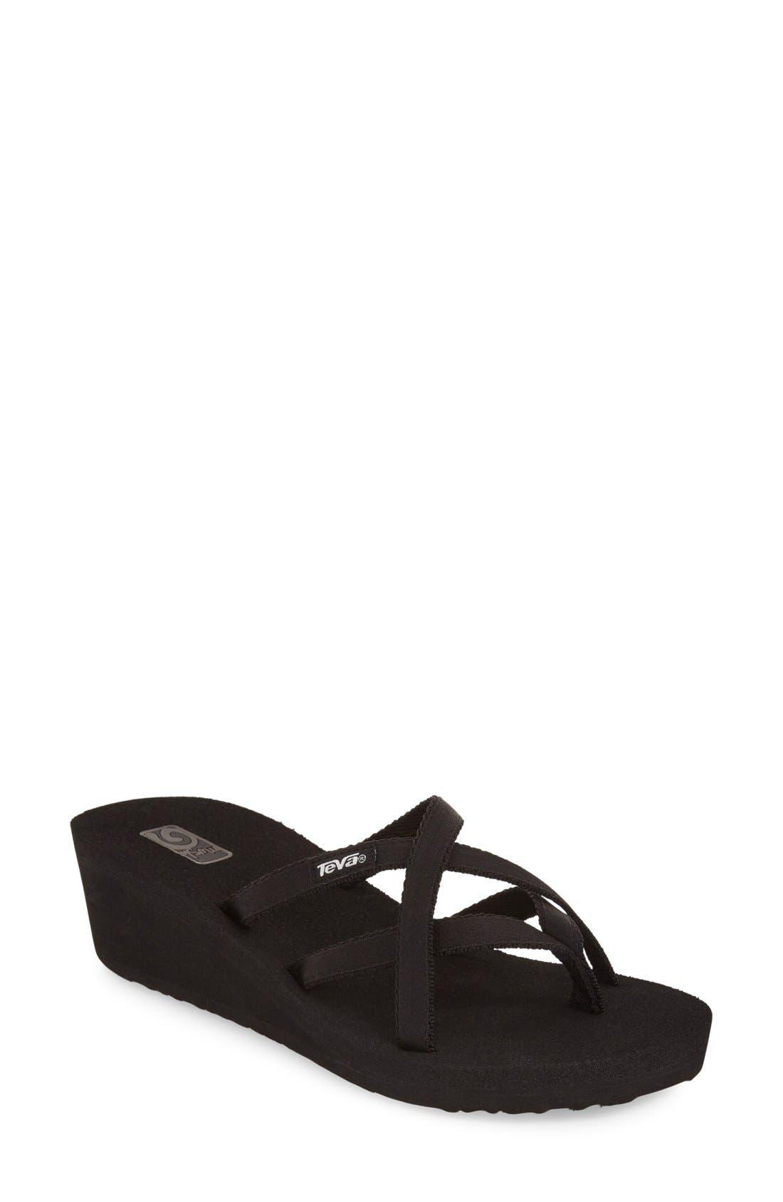 'Mandalyn' Wedge Sandal,                         Main,                         color, Black