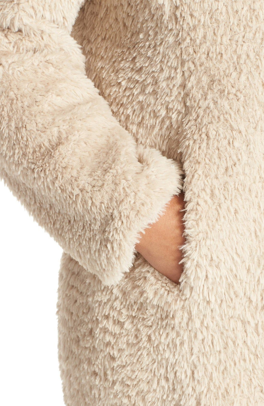 Alternate Image 4  - Kenneth Cole New York 'Original Teddy' Faux Fur Coat (Plus Size)