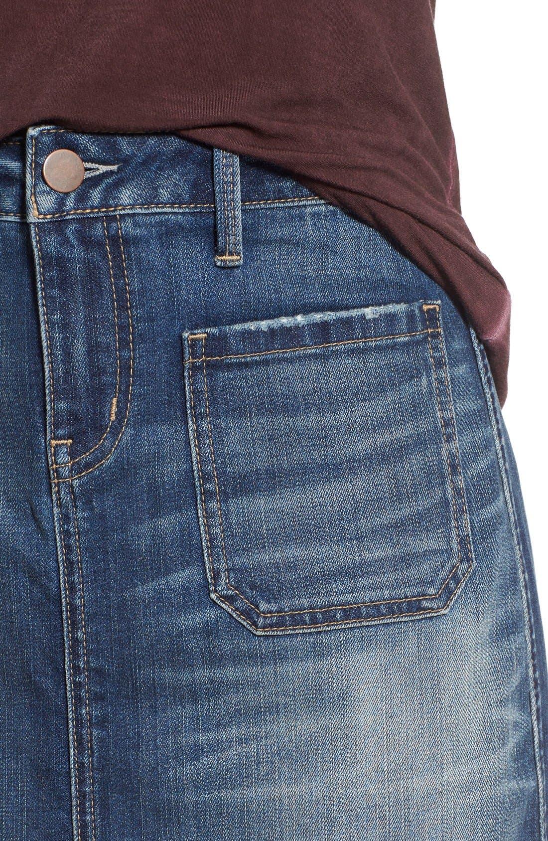 Alternate Image 4  - Hinge Denim Pencil Skirt (Rain Dusk Vintage)
