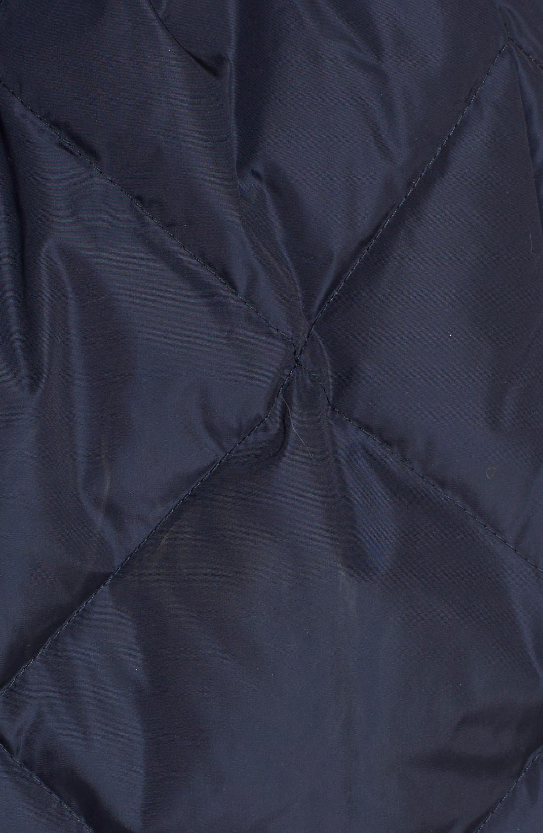 'Eles' Water Resistant Quilted Hooded Down Vest,                             Alternate thumbnail 3, color,                             Navy