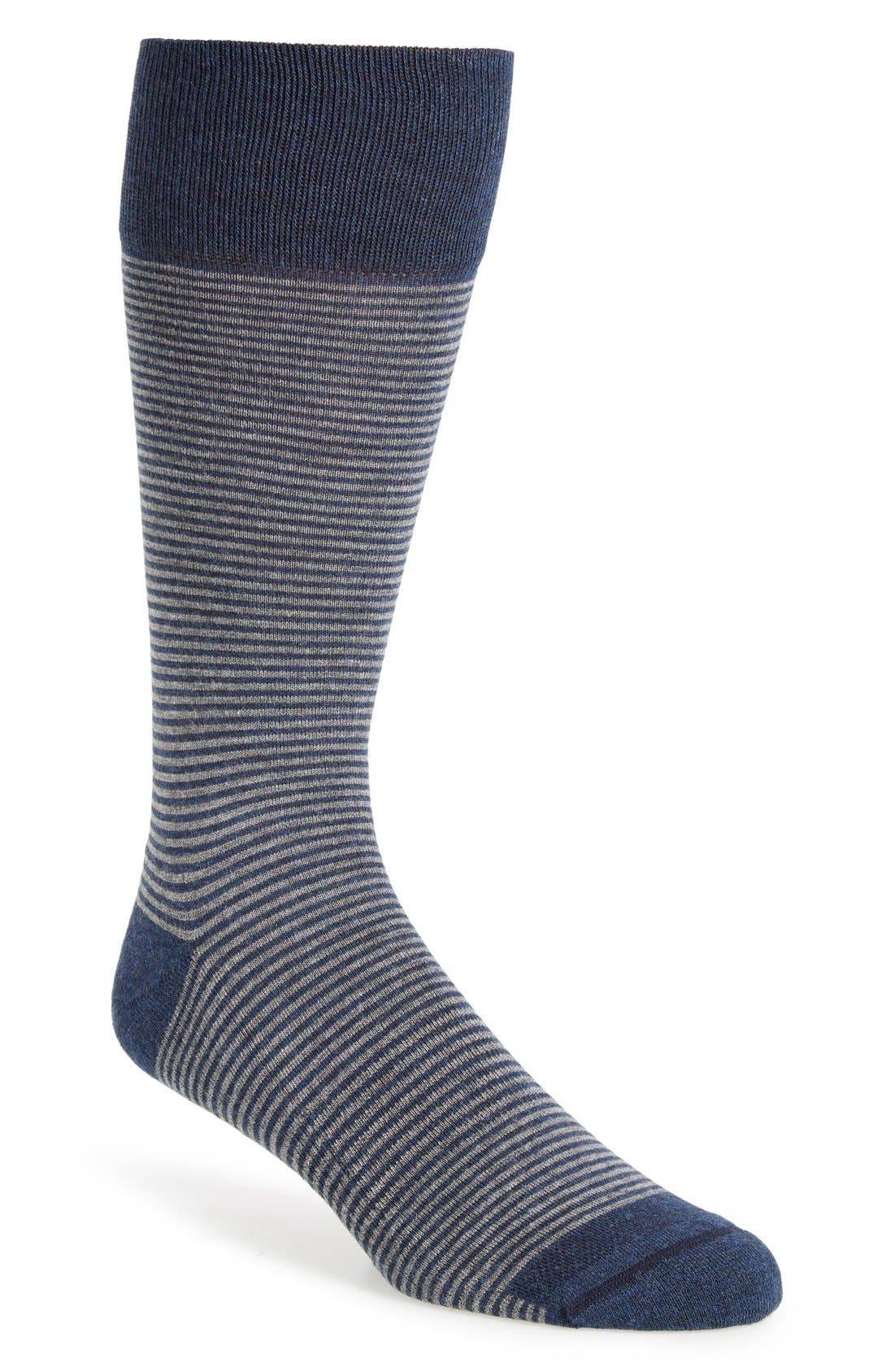 Alternate Image 1 Selected - Nordstrom Men's Shop Feeder Stripe Socks (3 for $30)