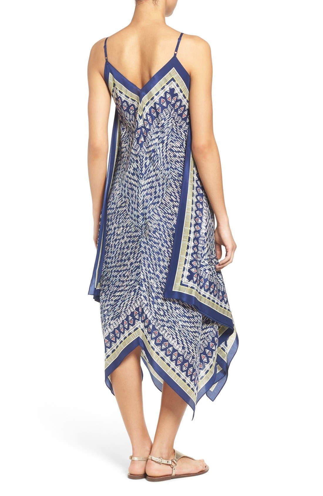 Alternate Image 2  - NIC+ZOE 'Tropicale' Print Handkerchief Hem Silk Sundress (Regular & Petite)